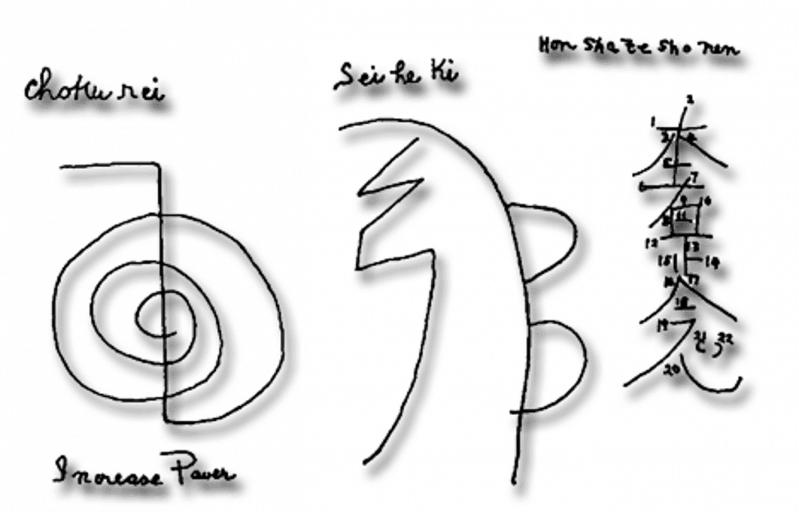 Symbole reiki Hawayo Takaty